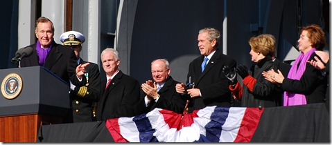 Bush 41 giving 43 grief