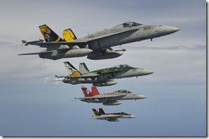 Four VFA CAG jets Tokunaga