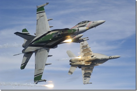 VFA CAG jet flare break Tokunaga